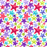 Configuration sans joint avec les étoiles de mer drôles Photo stock