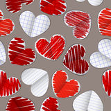 Configuration sans joint avec les coeurs de papier 2 Images libres de droits