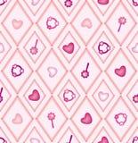 Configuration sans joint avec les diamants roses et beiges Image libre de droits