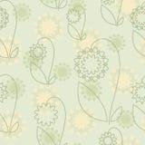 Configuration sans joint avec les fleurs abstraites illustration libre de droits