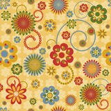 Configuration sans joint avec les fleurs colorées Image stock