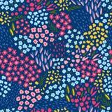 Configuration sans joint avec les fleurs colorées Modèle floral sans fin à la mode dans le vecteur Image stock