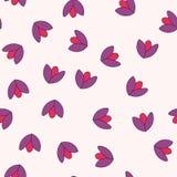 Configuration sans joint avec les fleurs colorées Vecteur illustration stock