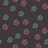 Configuration sans joint avec les fleurs colorées Vecteur illustration de vecteur