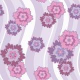 Configuration sans joint avec les fleurs lilas et roses illustration de vecteur