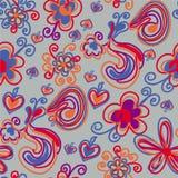 Configuration sans joint avec les fleurs lumineuses Image libre de droits