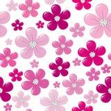 Configuration sans joint avec les fleurs roses illustration stock