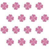 Configuration sans joint avec les fleurs roses Photos stock