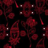 Configuration sans joint avec les fleurs rouges Photos libres de droits