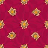 Configuration sans joint avec les fleurs rouges Peut employer pour imprimer sur Images libres de droits