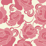 Configuration sans joint avec les roses roses Images libres de droits