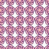 Configuration sans joint avec les roses stylisées Photo stock