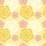 Configuration sans joint avec les roses stylisées Photos stock