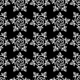 Configuration sans joint avec les roses stylisées Photographie stock