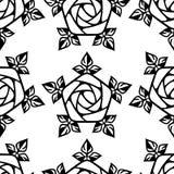 Configuration sans joint avec les roses stylisées Image stock