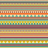 Configuration sans joint aztèque Photo stock