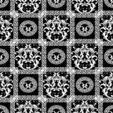 Modele Floral Noir Sans Couture De Papier Peint De Damasse