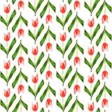 Configuration sans joint Basse poly tulipe de fleur Fond de vecteur Images libres de droits