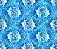 Configuration sans joint bleue Image stock