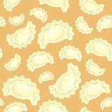 Configuration sans joint Boulettes délicieuses fraîches, varenyki Approprié comme papier peint dans la cuisine, par exemple, pour illustration stock
