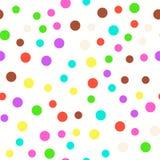 Configuration sans joint Cercles multicolores sur un fond blanc Texture Vecteur image stock
