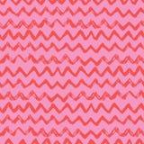Configuration sans joint Chevron, un ornement de zigzag dans le rose, couleurs rouges Pritn pour des textiles, papiers peints, sc image stock