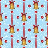 Configuration sans joint Cloches de Noël d'or photos stock