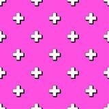 Configuration sans joint colorée abstraite style 80s Photo stock