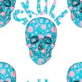Configuration sans joint Crâne de fleur illustration stock