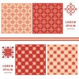 Configuration sans joint décorative Élément de symbole Ensemble abstrait de calibre de cartes illustration libre de droits