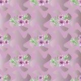 Configuration sans joint décorative avec des fleurs Photographie stock libre de droits