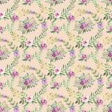 Configuration sans joint décorative avec des fleurs Images libres de droits