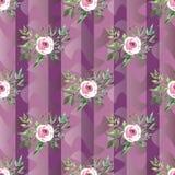 Configuration sans joint décorative avec des fleurs Images stock
