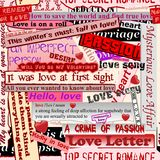 Configuration sans joint d'amour Image libre de droits