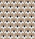 Configuration sans joint d'art déco Texture décorative florale géométrique Le vecteur laisse le fond élégant Photos libres de droits