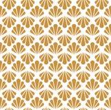 Configuration sans joint d'art déco Texture décorative florale géométrique Le vecteur laisse le fond élégant Illustration abstrai Photo stock