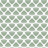 Configuration sans joint d'art déco Texture décorative florale géométrique Le vecteur laisse le fond élégant Illustration abstrai Image libre de droits