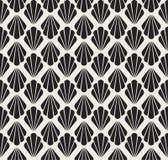 Configuration sans joint d'art déco Texture décorative florale géométrique Le vecteur laisse le fond élégant Illustration abstrai Photos libres de droits