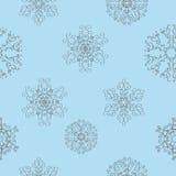 Configuration sans joint d'an neuf de Noël de l'hiver Photo libre de droits