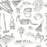 Configuration sans joint d'outils de jardin Divers équipement et équipements pour le jardinage et l'agriculture Photographie stock