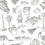 Configuration sans joint d'outils de jardin Divers équipements d'équipement pour le jardinage et l'agriculture Photos libres de droits