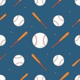 Configuration sans joint de base-ball Modèle de batte et de boule Illustration Libre de Droits