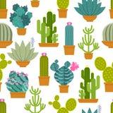 Configuration sans joint de cactus illustration de vecteur