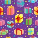 Configuration sans joint de cadeaux de Noël Illustration de vecteur Photo stock
