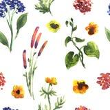 Configuration sans joint de centrales Illustration décorative florale illustration de vecteur