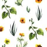 Configuration sans joint de centrales Illustration décorative florale illustration libre de droits