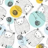 Configuration sans joint de chats Fond animal Illustration de vecteur Images libres de droits
