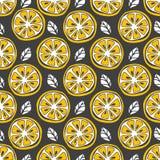 Configuration sans joint de citron Aspiration de main de modèle de fruit Photo libre de droits