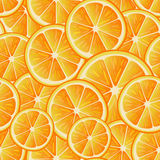 Configuration sans joint de citron Modèle sans couture des tranches d'oranges Collection de fruit Image stock