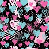 Configuration sans joint de coeur Fond de vacances décor de Saint Valentin Photographie stock libre de droits